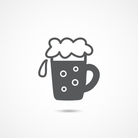 Beer icon on white background Illustration