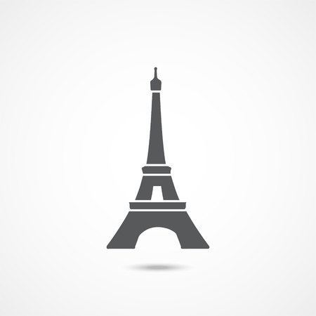 Eiffel tower icon on a white background