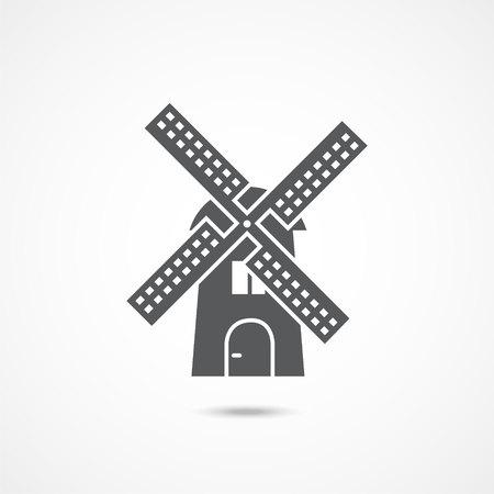 Windmill flat icon Reklamní fotografie - 118198270