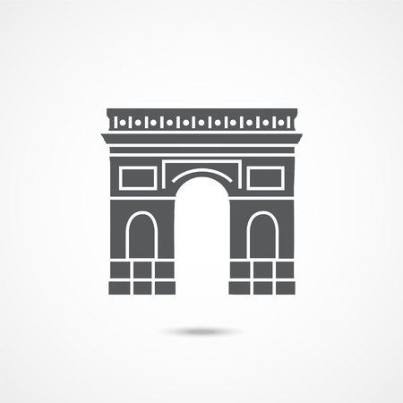 Triumphal arch icon on white background