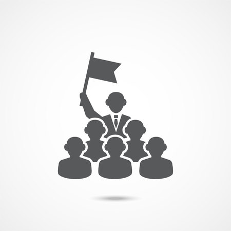 Leadership Icon on white background