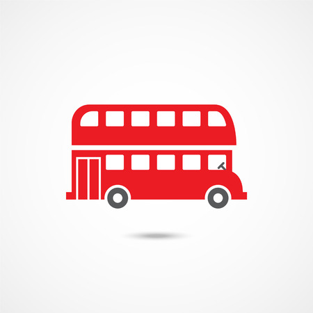 London bus icon on white