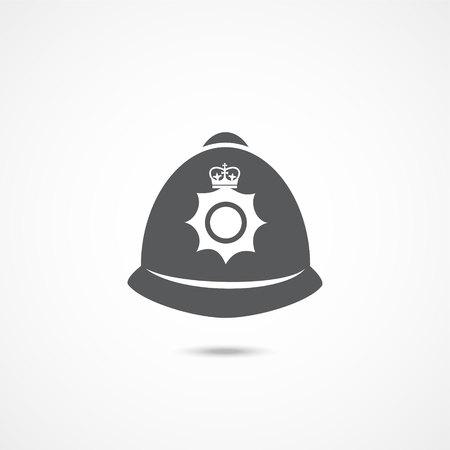 London police hat icon Illustration
