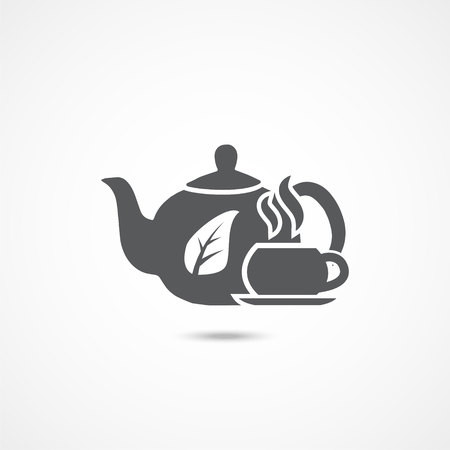 Tea icon vector on white background