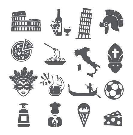 Italy icons set Иллюстрация