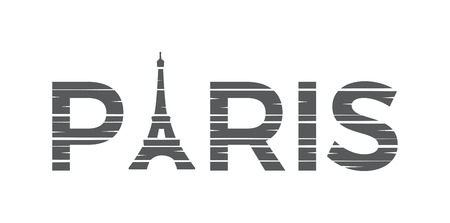 PARIS Illustration with Eiffel tower