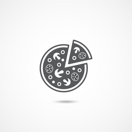 Pizza icon on white background