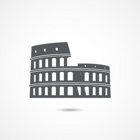 Colosseum icon on white Ilustração