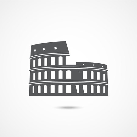 Colosseum icon on white Illustration
