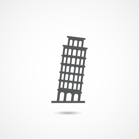 Pisa Tower icon Vector Illustration on the white background Illustration