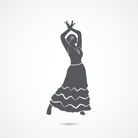 Flamenco dancer icon Illustration