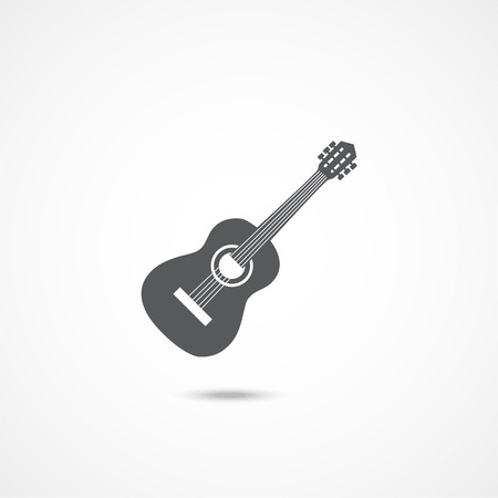 Guitar icon vector on white background