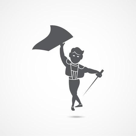 Toreador vector icon on white background