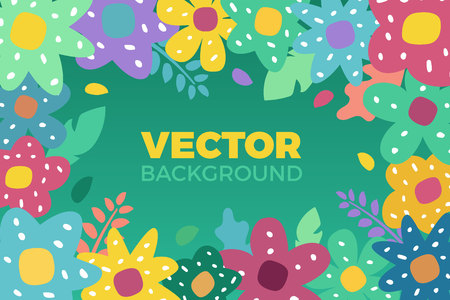 Flower background Vector illustration in trendy flat style