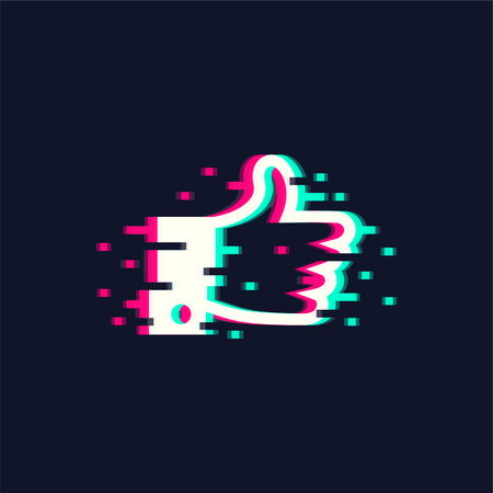 Like Vector illustration in trendy glitch style Ilustração