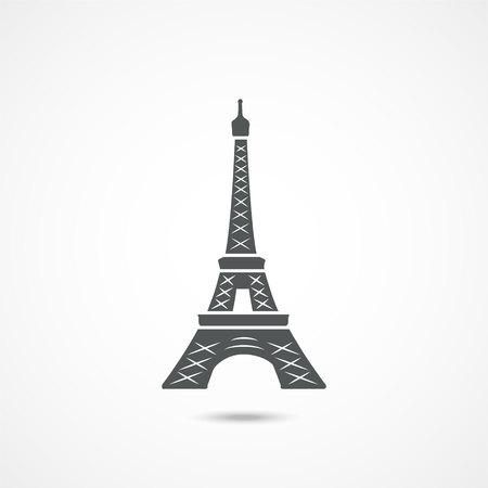 Eiffel tower icon on a white background
