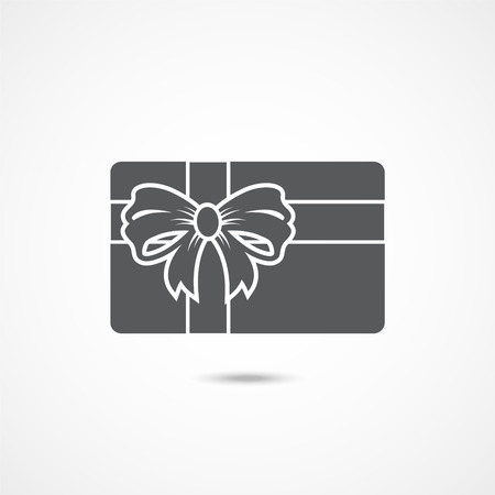 Gift card icon on white background Illustration