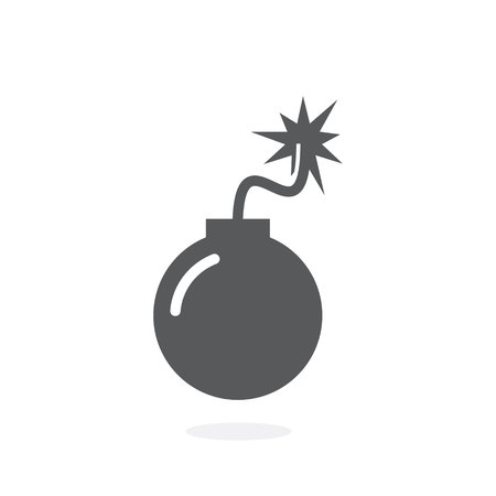 Bomb icon vector on white background