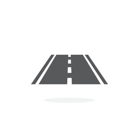 Road icon on white background