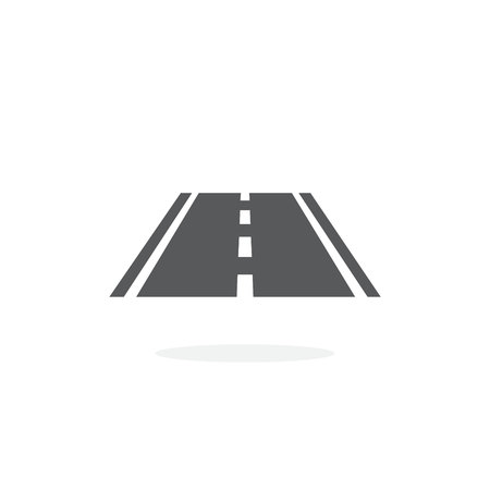 Road icon on white background