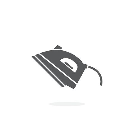 Steam iron icon on white Illustration