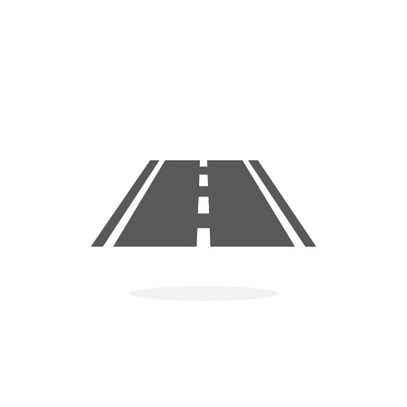 Road icon vector on white background Vectores