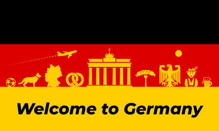 Germany background design. Germany traditional