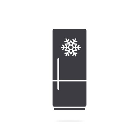 Refrigerator icon on white background Illustration