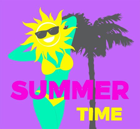 Summer Time Vector illustration in