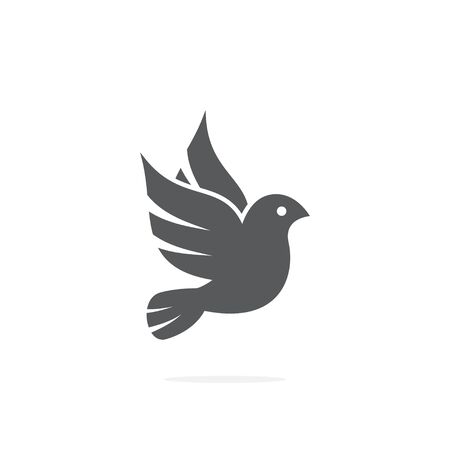 Dove icon on white background