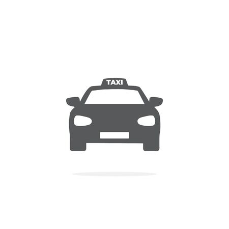 Taxi Icon on white background.