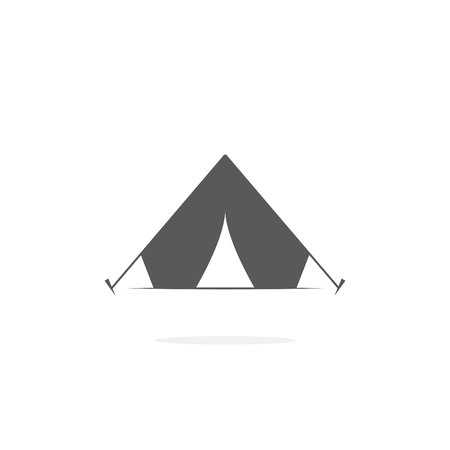 Tourist tent icon on white