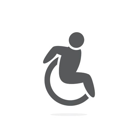 Wheelchair Icon Isolated on the Illustration