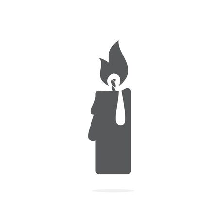 Candle icon vector on white