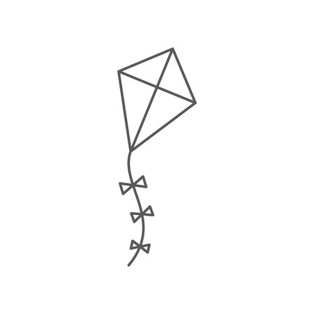 Kite line icon isolated on Illustration