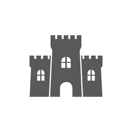 Castle Icon on white background Illustration