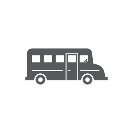 School Bus Icon on white