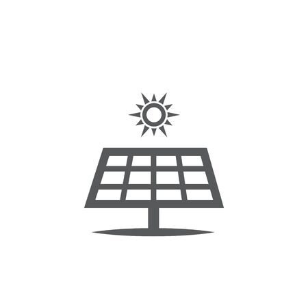 Solar panel vector icon on