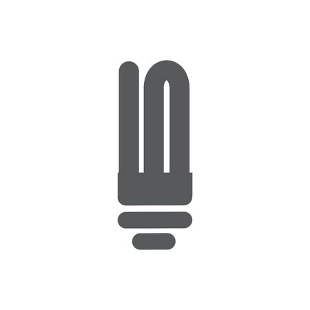 Fluorescent Lamp Icon on white