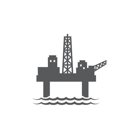 Oil platform icon on white Illustration