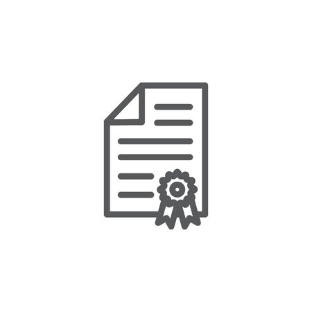 Certificate line icon isolated on Illustration