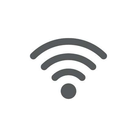 Signal icon on white background 向量圖像