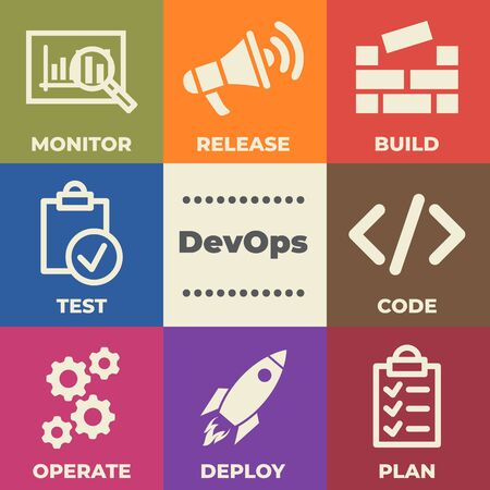 DevOps Concept with icons and