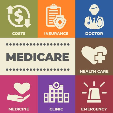 MEDICARE Concept with icons and