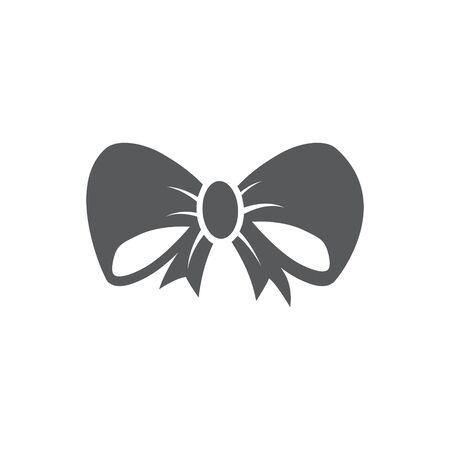 Bow icon on white background Ilustração