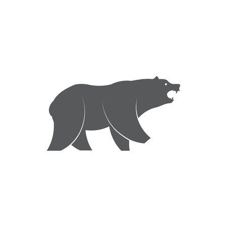 Bear icon on white background Vektorové ilustrace