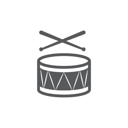 Drum Icon on white background. Illusztráció
