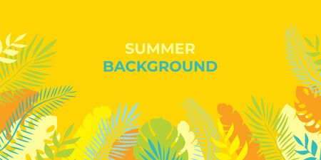 Summer background Summer vacation for banner, poster and advertising