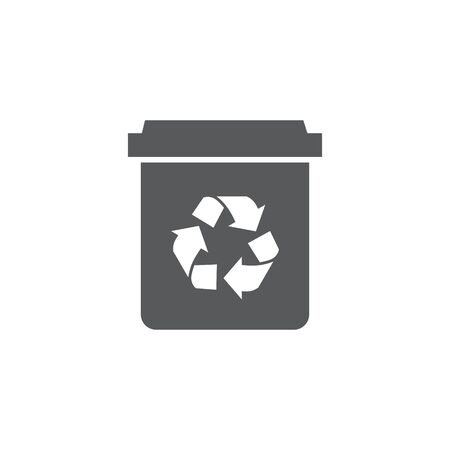 Recycle bin icon on white