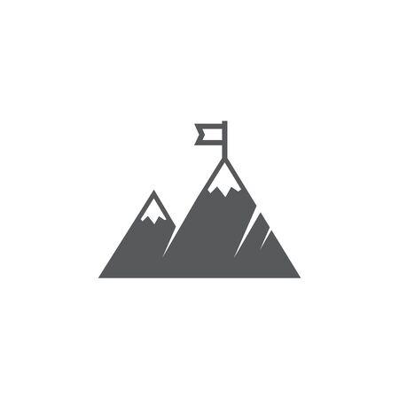 Mountain Icon on white background Stock Illustratie